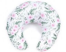 Kojící polštář růžová zahrada