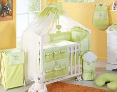 Zelené vybavení dětské postýlky