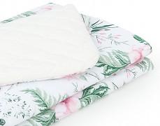 Dětská deka růžová zahrada s krémovou velvet