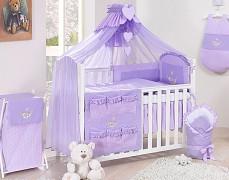 Vybavení dětské postýlky fialová houpačka kostička