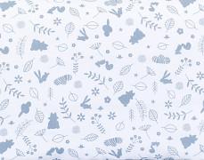 Detail motivu šedý lesík