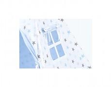 TeePee modro-šedé hvězdičky