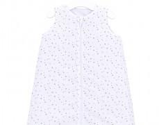 Dětský spací pytel bílé minihvězdičky, s nohavičkou