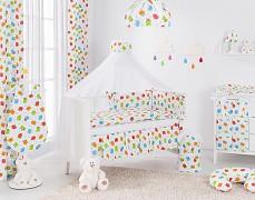 Vybavení dětské postýlky barevné ovečky