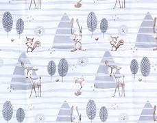 Dětské povlečení šedý lesíček