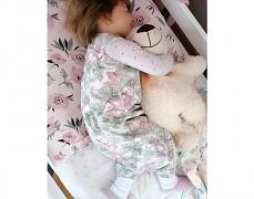 Dětský spací pytel květy a listy, s nohavičkou