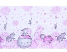 Detail motivu růžové slůňátko
