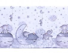 Detail motivu šedé slůňátko