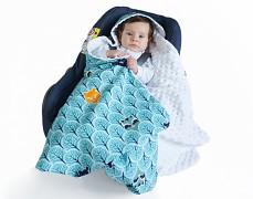 Dětská deka modrá forest