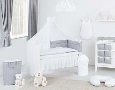 Vybavení dětské postýlky bílé mini hvězdičky