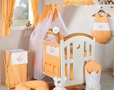 Vybavení dětské postýlky oranžová houpačka