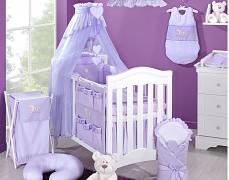 Vybavení dětské postýlky fialový zajíček