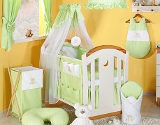 Vybavení dětské postýlky zelený obláček