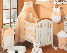 Vybavení dětské postýlky oranžový Snílek