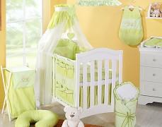 Vybavení dětské postýlky zelený zajíček
