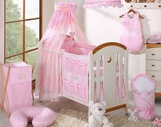 Vybavení dětské postýlky růžový Snílek