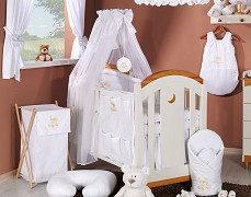 Vybavení dětské postýlky bílý obláček