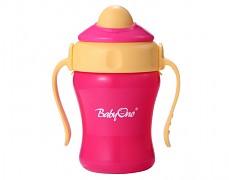 Lahev s brčkem růžová Baby Ono 220ml