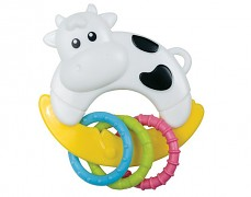 Chrastítko kravička s kroužky
