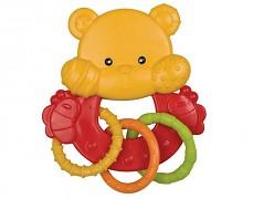 Chrastítko medvídek s kroužky