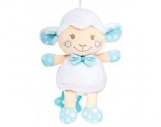 Plyšová hrající modrá ovečka
