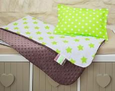 Set hnědo-zelený hvězdy