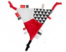 Mazlík šustík červený trojúhelník