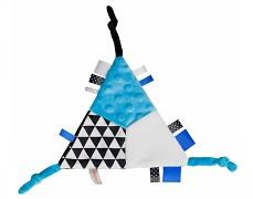 Mazlík šustík modrý trojúhelník