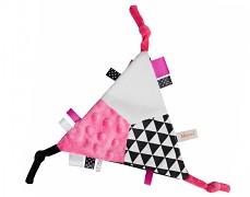 Mazlík šustík růžový trojúhelník