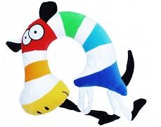Plyšová barevná zebra