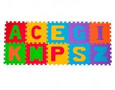 Pěnové puzzle -písmena 10ks