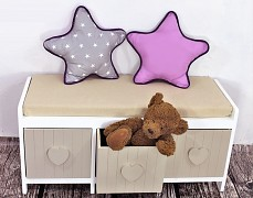 Polštářek Hvězda šedá hvězda s fialovou