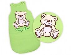 Dětský spací pytel zelený Teddy Bear