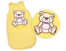 Dětský spací pytel žlutý Teddy Bear