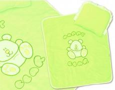 Set zelený velur Happy Bear