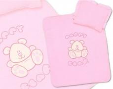 Set růžový velur Happy Bear