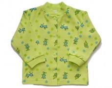 Kabátek zelený s pejsky