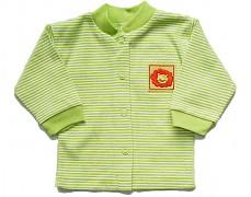 Kabátek zelený s proužky