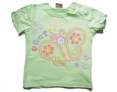 Tričko zelenkavé s motýlkem vel.80
