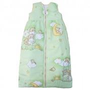 Dětský spací pytel zelený se spícími medvídky