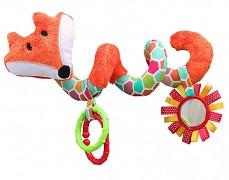 Plyšová spirála oranžová liška