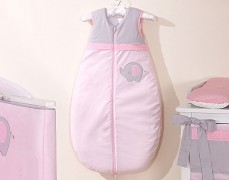 Dětský spací pytel růžové slůně