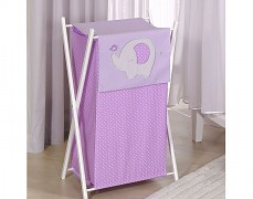 Koš na prádlo fialové slůně