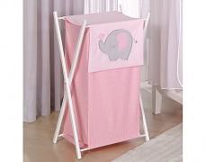Koš na prádlo růžové slůně