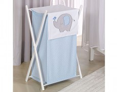 Koš na prádlo modré slůně
