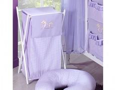 Koš na prádlo fialová zajíčci