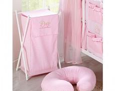 Koš na prádlo růžová zajíčci