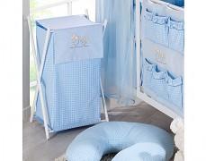 Koš na prádlo modrá zajíčci