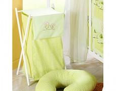 Koš na prádlo zelená zajíčci
