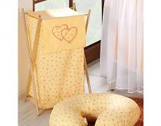 Koš na prádlo oranžová květinka